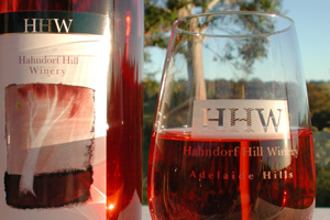 Hahndorf Hill rose wine is uniquely made from Blaufrankisch and Trollinger grapes.